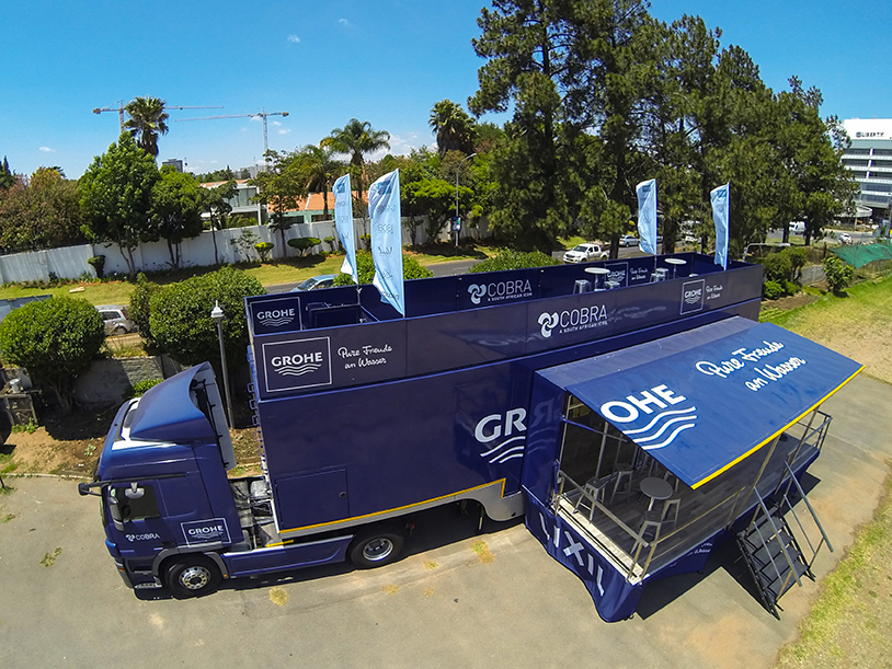 Grohe Dawn Water Technology Launches the First Mobile Showroom in Africa