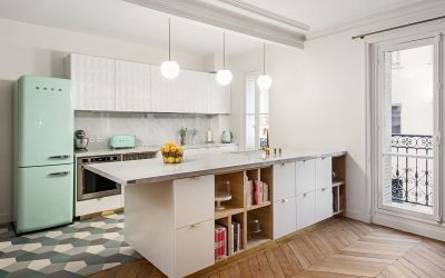 Neolith Blanco Carrara's on a roll in Anne-Sophie's Kitchen