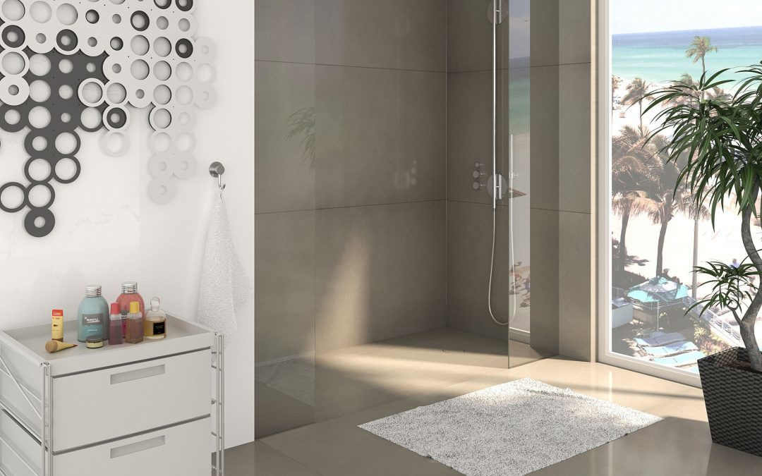 Neolith® Delivers Singularly Thin Shower Trays