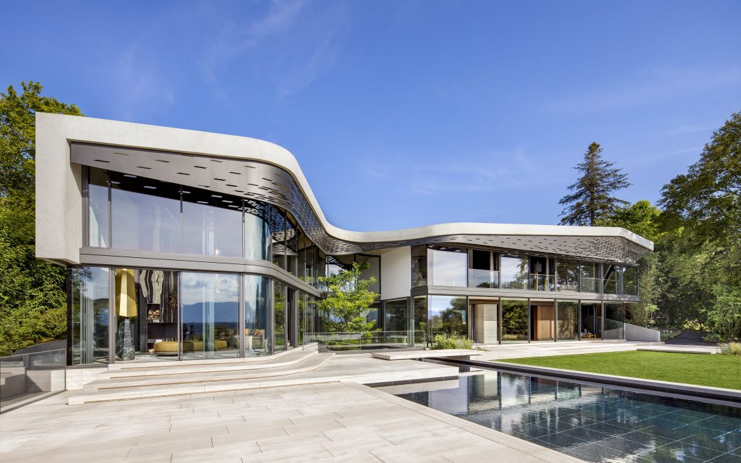 Sharp Peaks, Soft Hills and Sunlight are the Guiding Elements Dictating the Design of Lac Léman's Swiss Villa